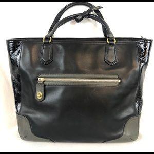 COACH Poppy Blair in Black & Gray Tote Hand Bag